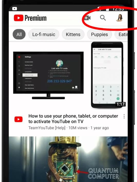 Ativar notificações push no YouTube no celular
