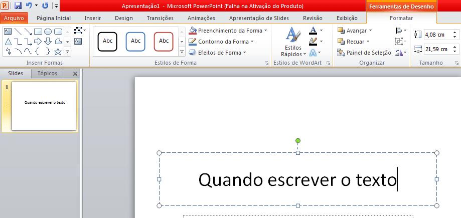 formata no powerpoint
