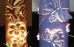 Apostila de Luminárias em PVC - Borboletas e Lírios