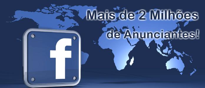 Mais de 2 milhões de anunciantes no Facebook