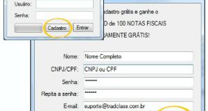 Farejador de Nota Fiscal Eletrônica (NF-e) TradClass