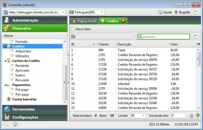 Controller – Automação para Empresas de Hosting - Créditos