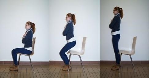 Levantando-se da cadeira