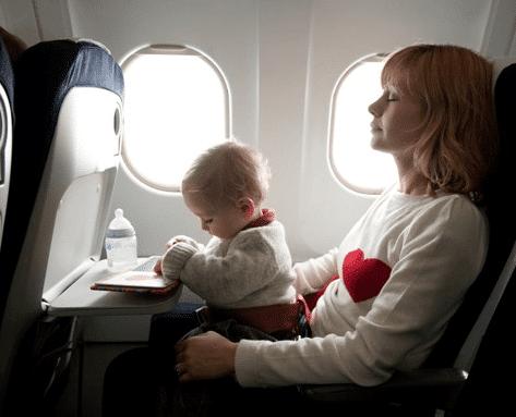 Viajar de avião com criança