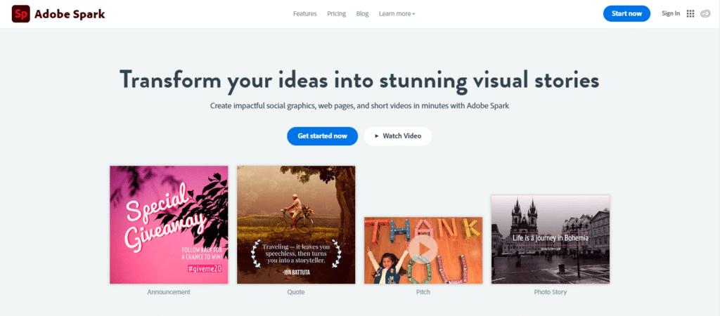 Adobe Spark - infográficos