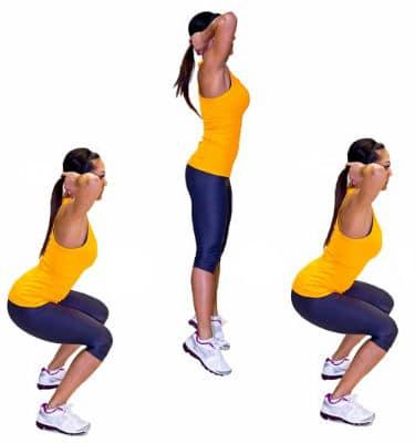 agachamento com salto - treinamento funcional