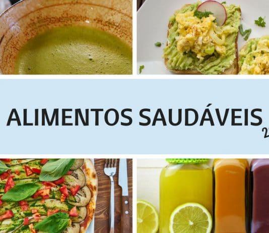 Alimentos Saudáveis - Chá Matchá - Torrada com Abacate - Pizza - Suco Deto