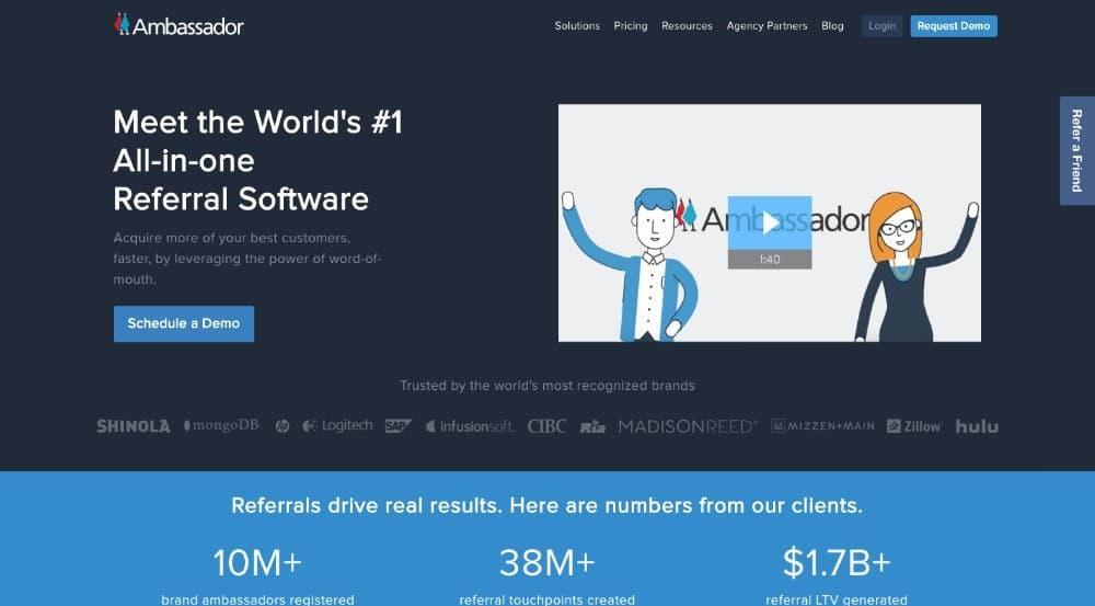 Ambassador - software de afiliados