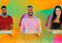 Arcrebiano, Gilberto e Juliette estão no Paredão