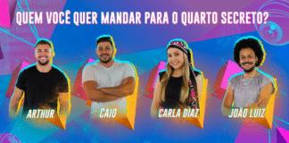 Arthur Caio Carla Diaz e João Luiz no Paredão PNG