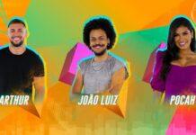 Arthur, João Luiz e Pocah estão no Paredão