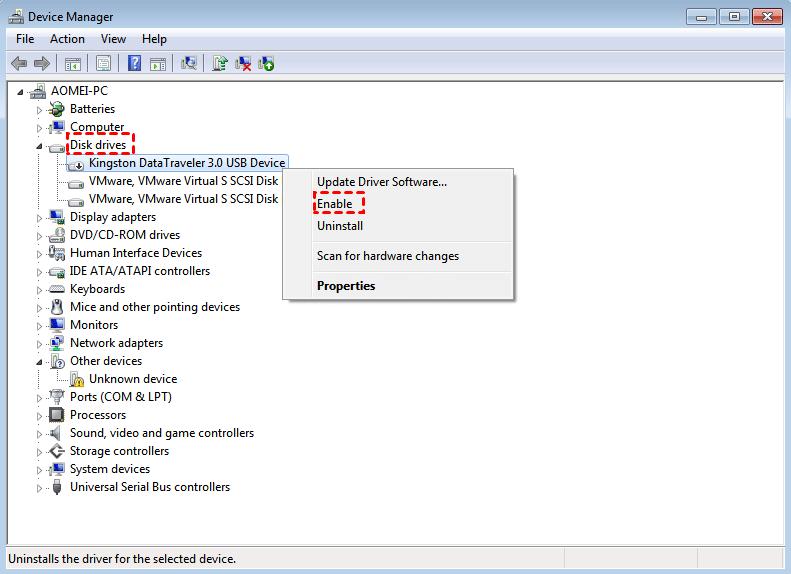Como corrigir erros do pendrive com o Gerenciador de dispositivos