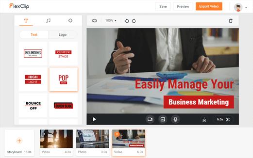 FlexClip_personalizar vídeo
