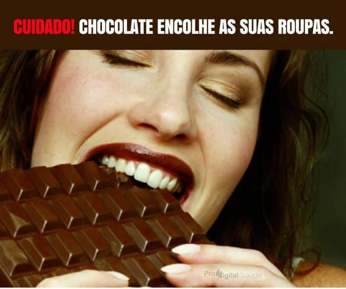 Cuidado! Chocolate encolhe as suas roupas. - frases de motivação