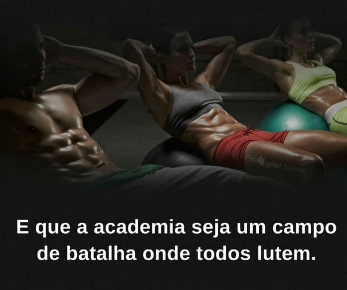 E Que A Academia Seja Um Campo De Batalha...