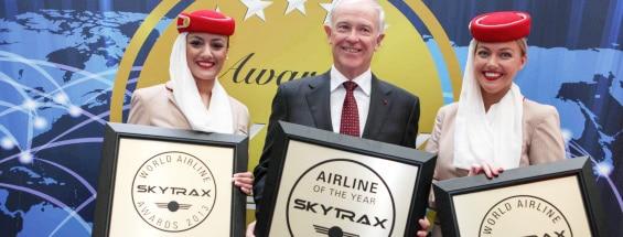 Emirates Airlines prêmio Skytrax de melhor companhia aérea do mundo de 2013