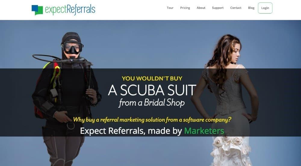 Expect Referrals - software de referência