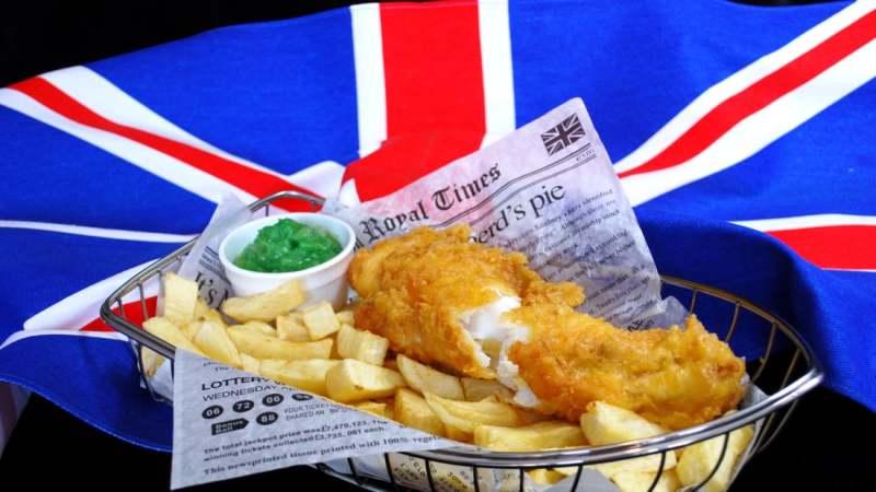 Fish and Chips Reino Unido Europa Prato