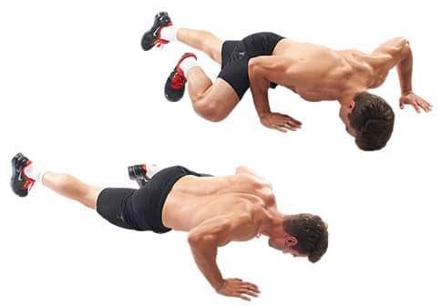 flexão de braço spiderman - treinamento funcional