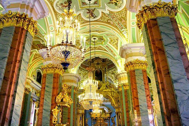 Fortaleza de Pedro e Paulo em São Petersburgo por dentro