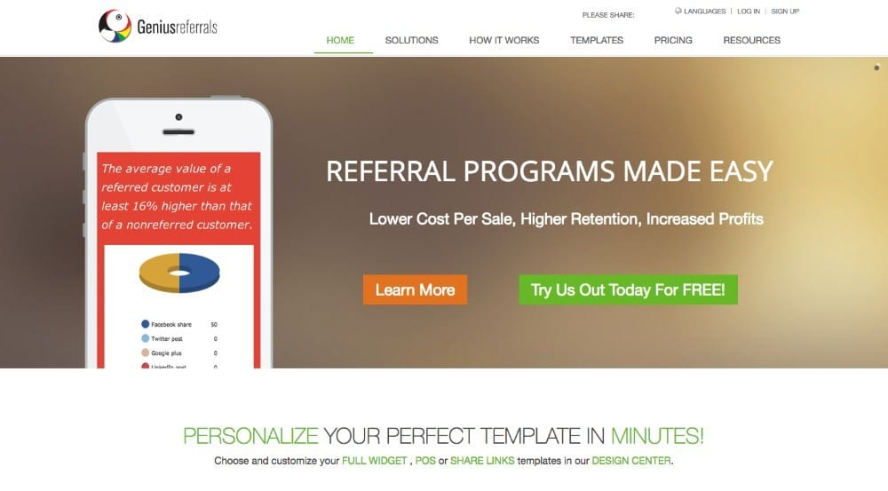 Genius Referrals - software de afiliados