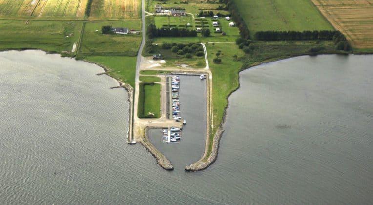 Haverslev Havn - visão aérea