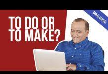 Make and Do? Qual a diferença?