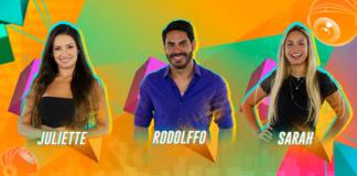 Juliette, Rodolffo e Sarah no Paredão