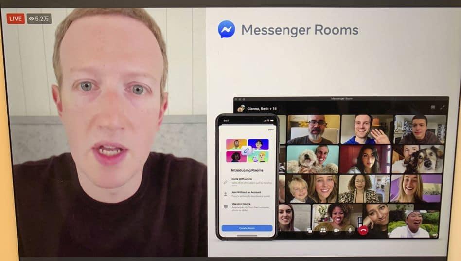 livestream facebook spiegel - messenger rooms