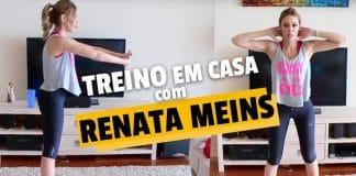 Treino em Casa - Secar Barriga - Renata Meins