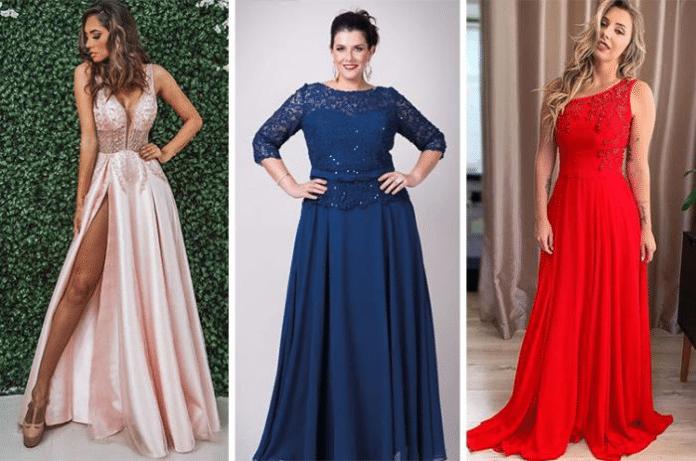 Mulheres com vestido de festa