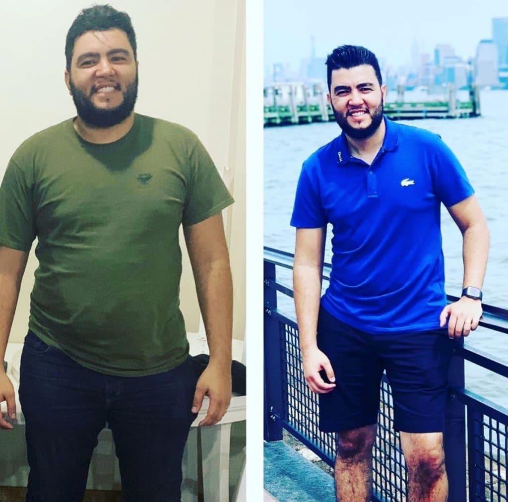 O antes e o depois de Junior Melu