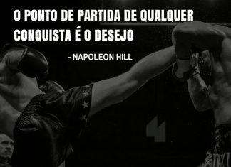 Frases de motivação - O ponto de partida de qualquer conquista é o desejo. - Napoleon Hill
