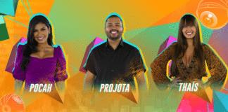 Pocah, Projota e Thaís estão no Paredão