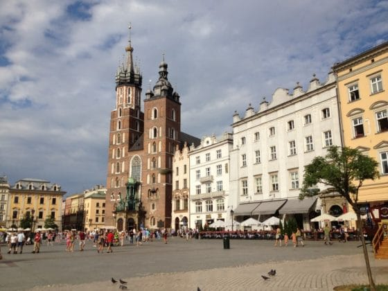Rynek Glówny, praça do Mercado de Cracóvia