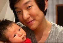 Pyong Lee posta vídeo super fofo do filho