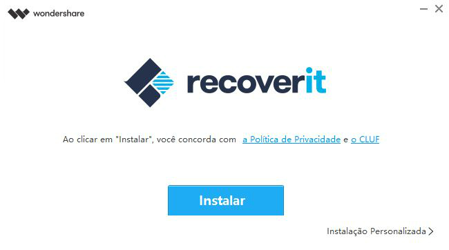 Instalar Recoverit - Wondershare
