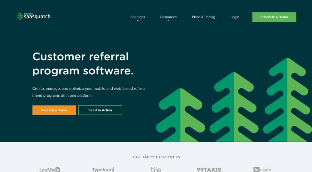 Referral Saasquatch - software de afiliados