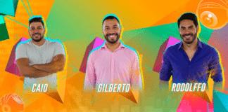 Rodolffo, Caio e Gilberto no Paredão