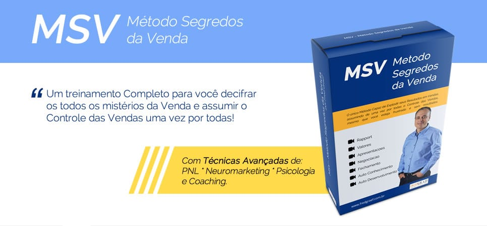 MSV - metodos segredos da venda