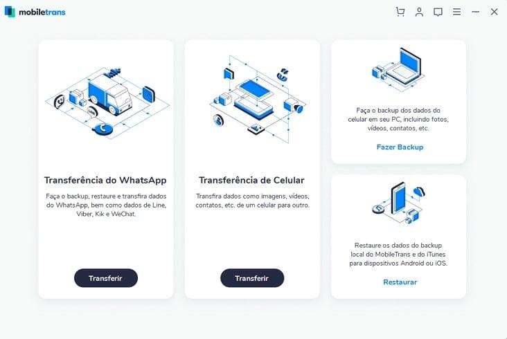 Transferência do WhatsApp com MobileTrans