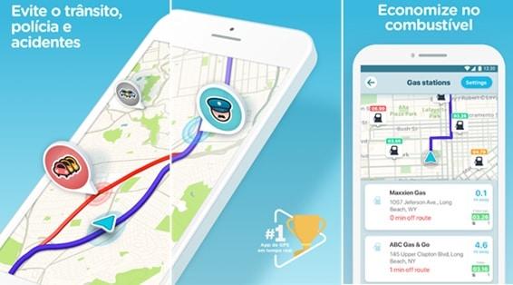 Waze - aplicativos para economizar combustível