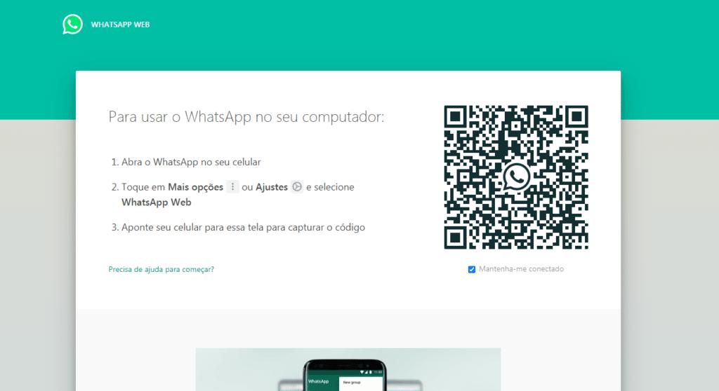 WhatsApp Web - scanneando o QR Code